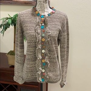 Storybook Knits Buttons Accents Cardigan Sz XS